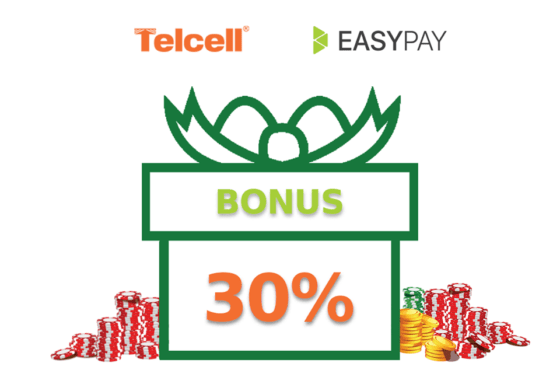 Get 30% extra chips when buying through TelCell and EasyPay